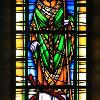 Painted, stained and leaded antique glass- St Patrick
